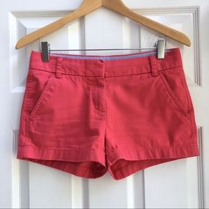 J. Crew Red Cotton Chino Shorts - Size 00